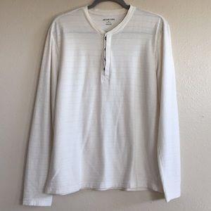 Michael Kors Men's Henley Long Sleeve Shirt